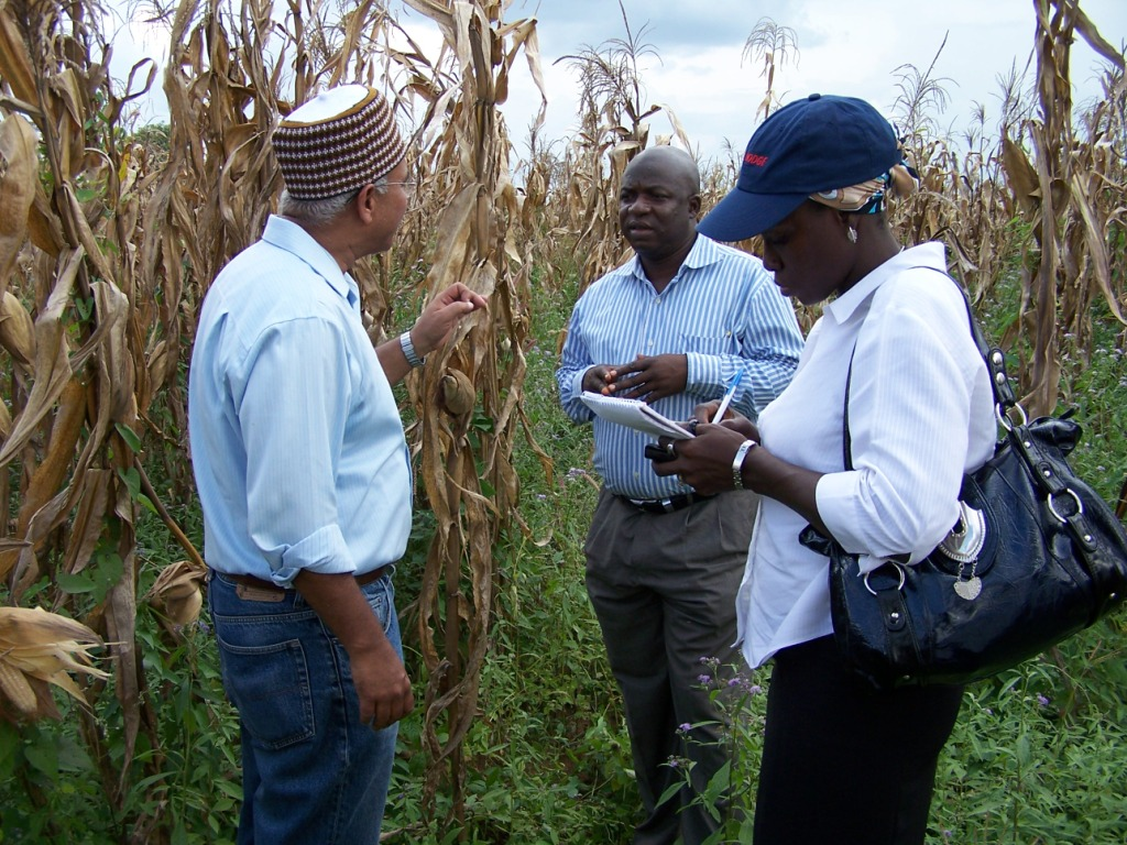 The AgResults team conducts field visits
