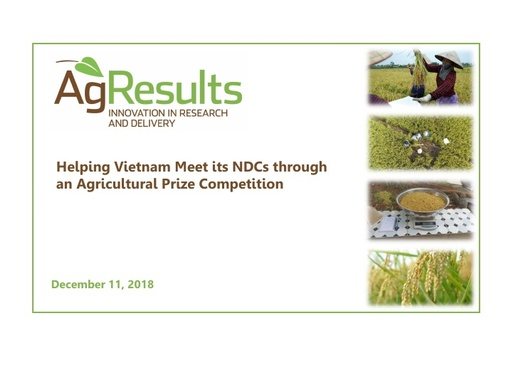 Helping Vietnam Meet Its NDCs through an Agricultural Competition