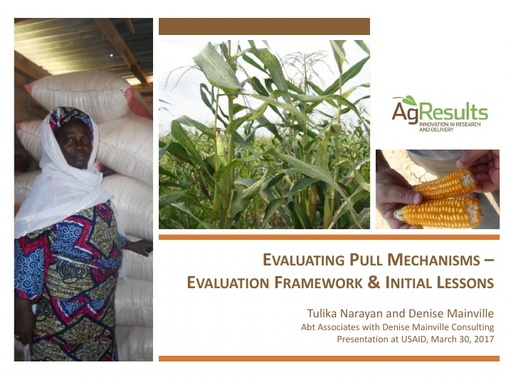 USAID BFS Evaluating Pull Mechanisms, Initial Lessons