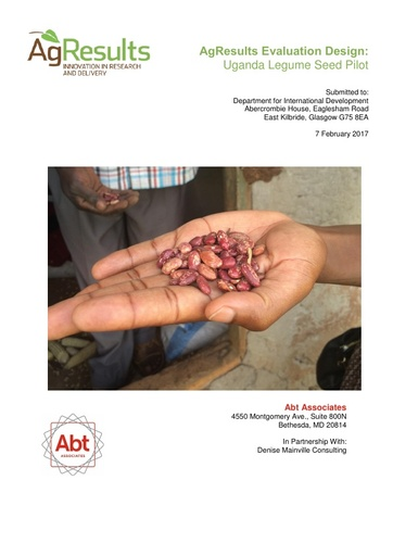 Evaluation Design: Uganda Legume Seed Challenge Project