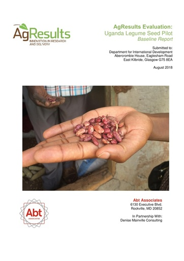 Evaluation Baseline Report: Uganda Legume Seed Challenge Project