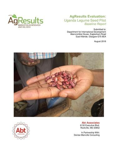Evaluation Baseline Report: Uganda Legume Seed Challenge Project