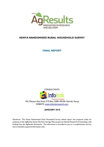 Kenya Randomized Rural Household Survey Final Report