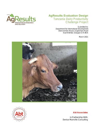 Evaluation Design: Tanzania Dairy Productivity Challenge Project