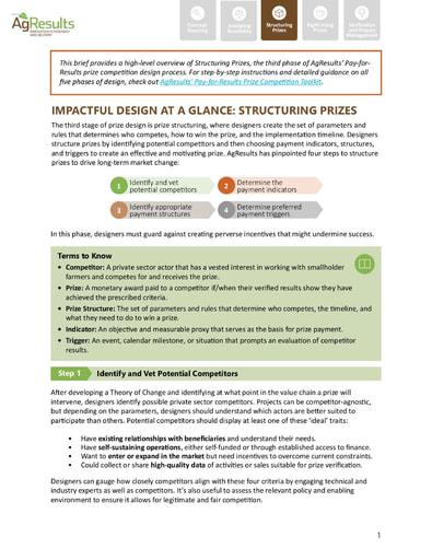 Design Brief #3: Structuring Prizes