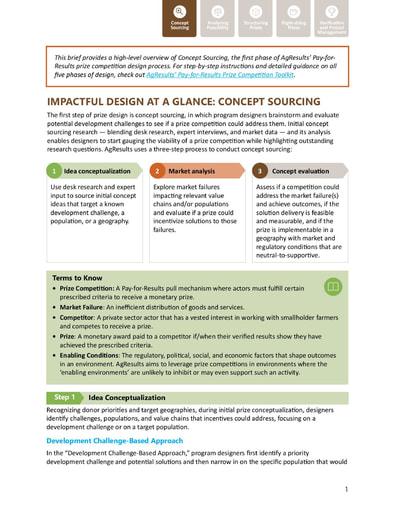 Design Brief #1: Concept Sourcing