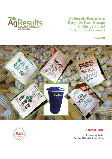 Sustainability Assessment: Kenya On-Farm Storage Challenge Project